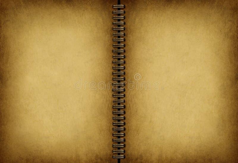 Vecchio taccuino in bianco illustrazione di stock