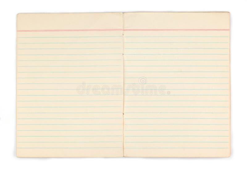 Vecchio taccuino con le pagine gialle in bianco immagine stock libera da diritti