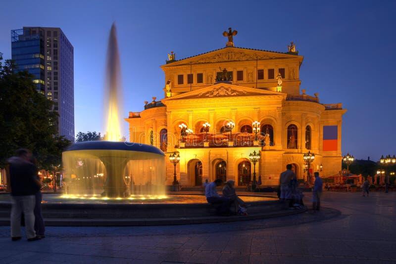 Vecchio Teatro dell'Opera a Francoforte, Germania fotografia stock libera da diritti