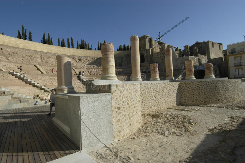 Vecchio teatro romano immagine stock libera da diritti