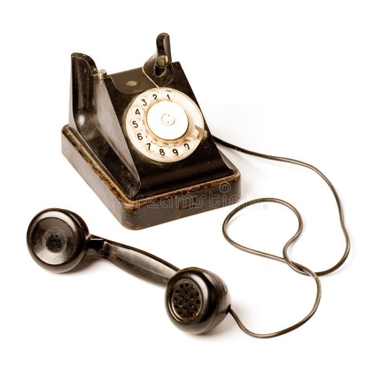 Vecchio telefono immagine stock