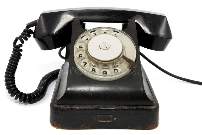 Vecchio telefono arrugginito immagine stock