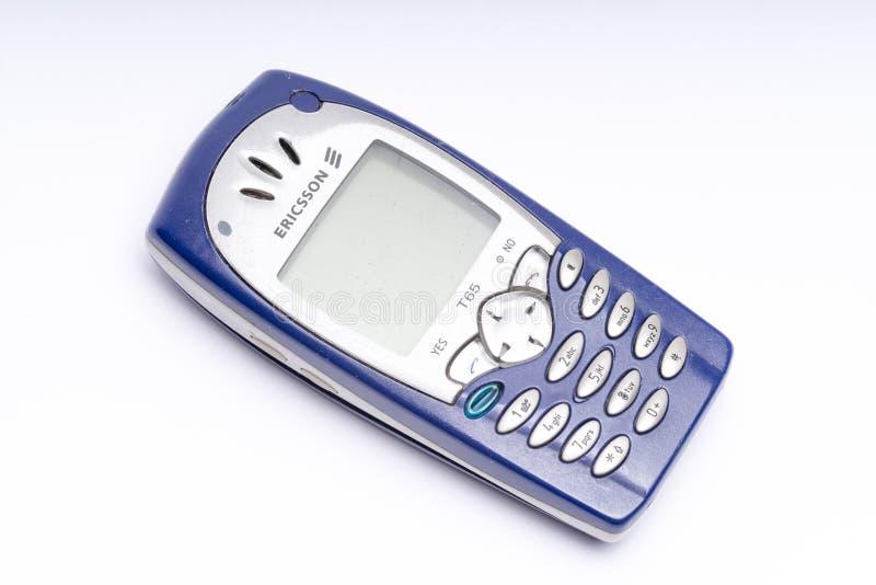 Vecchio telefono cellulare Ericsson, telefono cellulare fotografia stock
