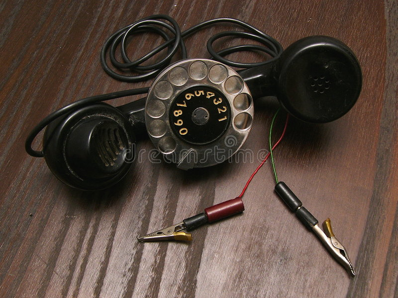 Download Vecchio Telefono Di Servizio Fotografia Stock - Immagine: 350178