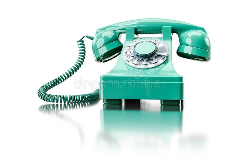 vecchio telefono dial-up verde illustrazione di stock