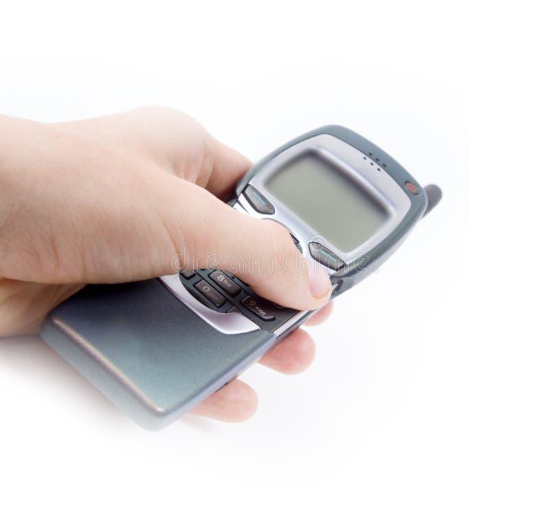 Vecchio telefono mobile immagini stock