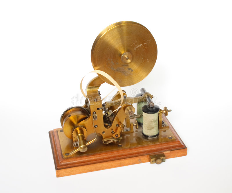 Vecchio telegrafo fotografie stock