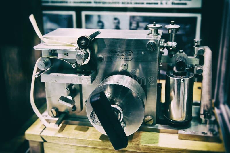 Vecchio telegrafo Morse immagine stock libera da diritti