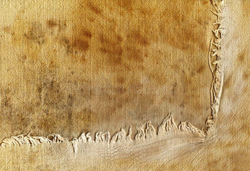 Vecchio tessuto con il bordo violento fotografia stock