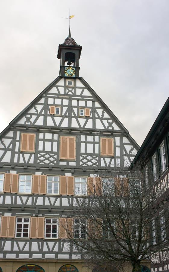 Vecchio townhall - Winnenden - Germania fotografia stock libera da diritti