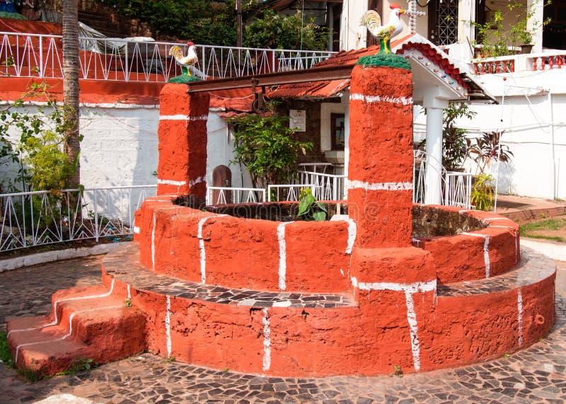 Vecchio tradizionale bene, Goa, India fotografia stock libera da diritti