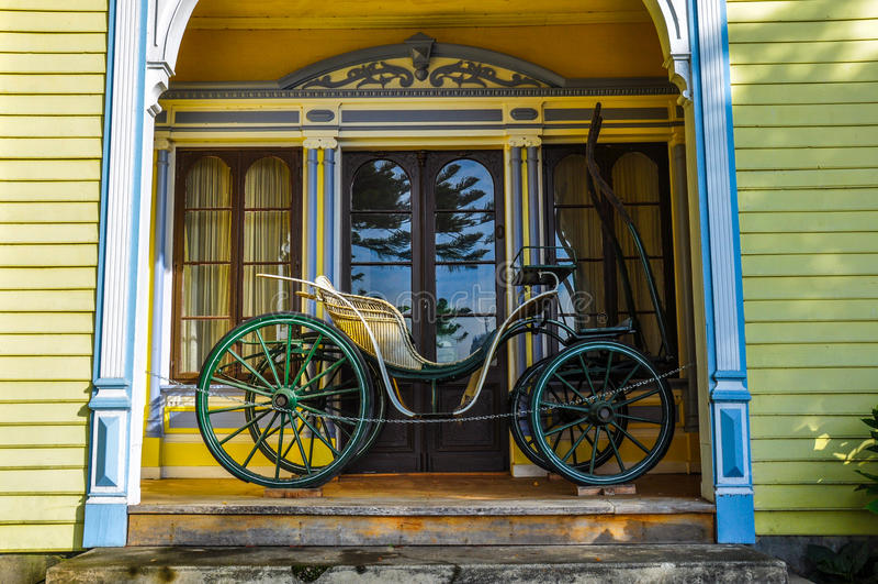 Vecchio trasporto al museo tedesco storico del Valdivia, Cile fotografie stock libere da diritti