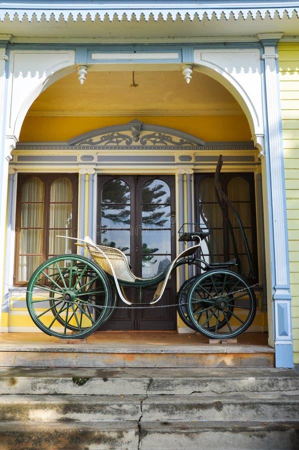 Vecchio trasporto al museo tedesco storico del Valdivia, Cile fotografie stock