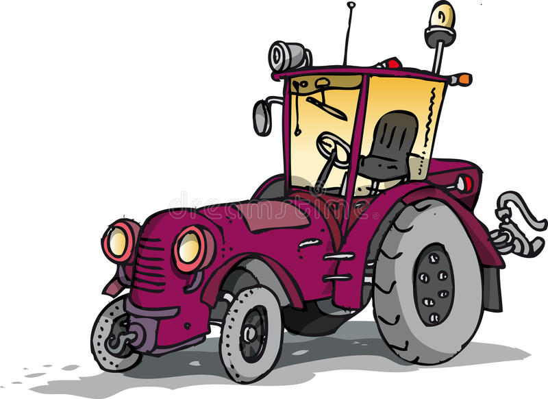 Vecchio trattore illustrazione vettoriale