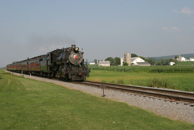 Vecchio Treno Fotografia Stock