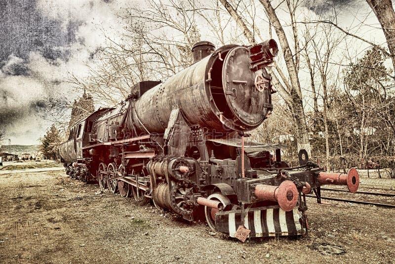 Vecchio treno immagine stock