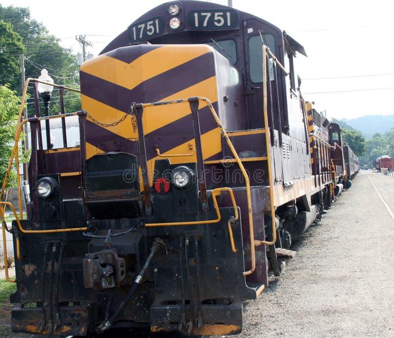 Vecchio treno Bryson NC fotografie stock libere da diritti