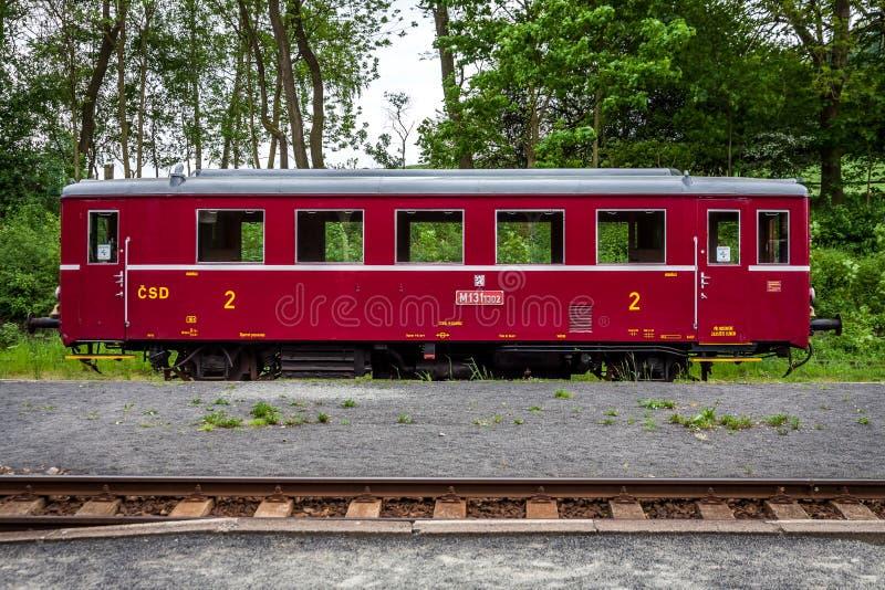 Vecchio treno dalla repubblica Ceca immagine stock libera da diritti