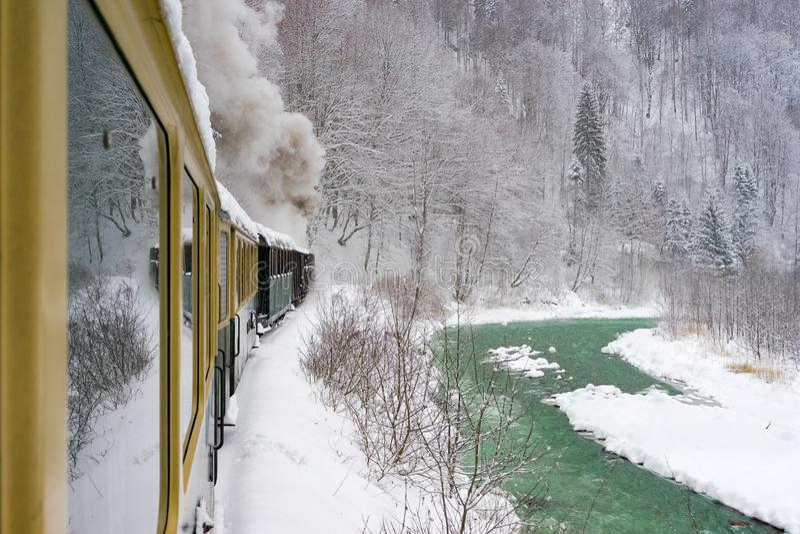 Vecchio treno del vapore fotografia stock libera da diritti