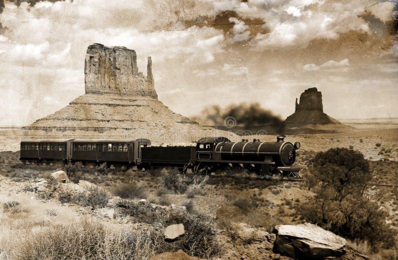 Vecchio treno occidentale royalty illustrazione gratis