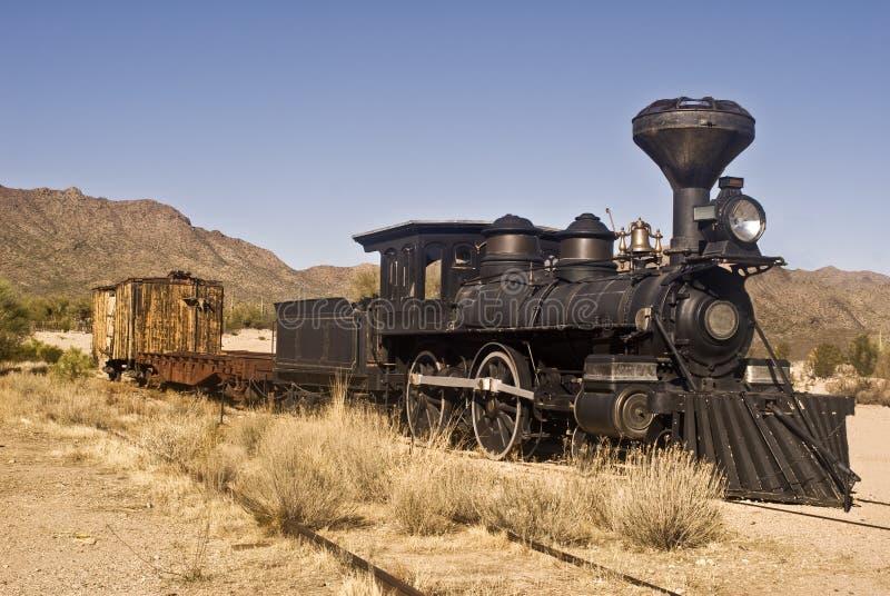 Vecchio treno occidentale immagine stock libera da diritti