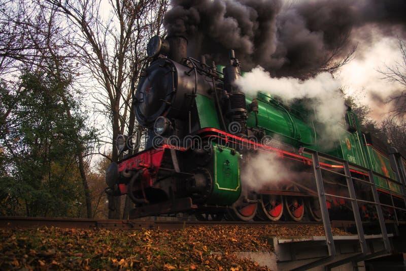 Vecchio treno a Rostov On Don fotografia stock