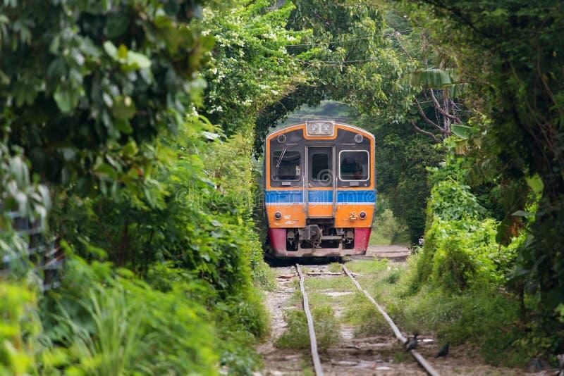 Vecchio treno in Tailandia immagine stock libera da diritti