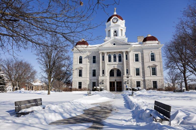 Vecchio tribunale a Cartagine, Illinois fotografie stock libere da diritti