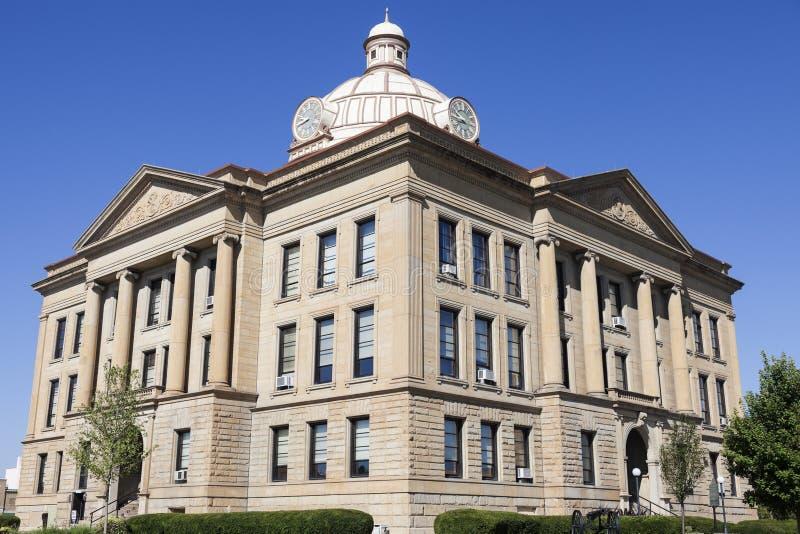 Vecchio tribunale in Lincoln, Logan County fotografie stock