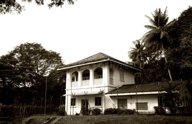 Vecchio ufficio postale coloniale di stile immagini stock