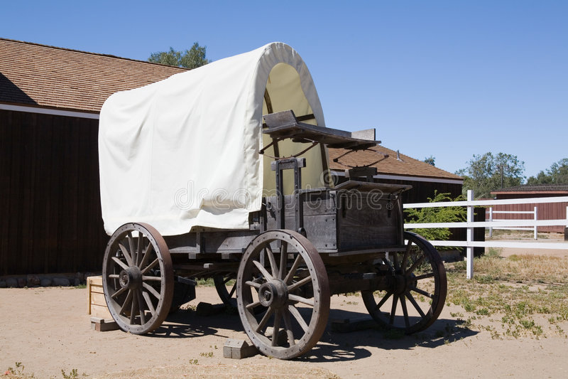 Vecchio vagone coperto fotografia stock
