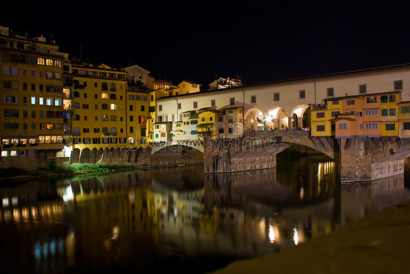 Vecchio van Ponte, Florence royalty-vrije stock afbeeldingen