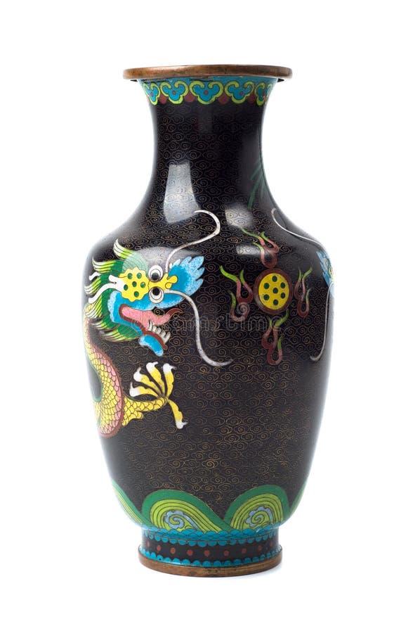 Vecchio vaso cinese di rame fotografia stock