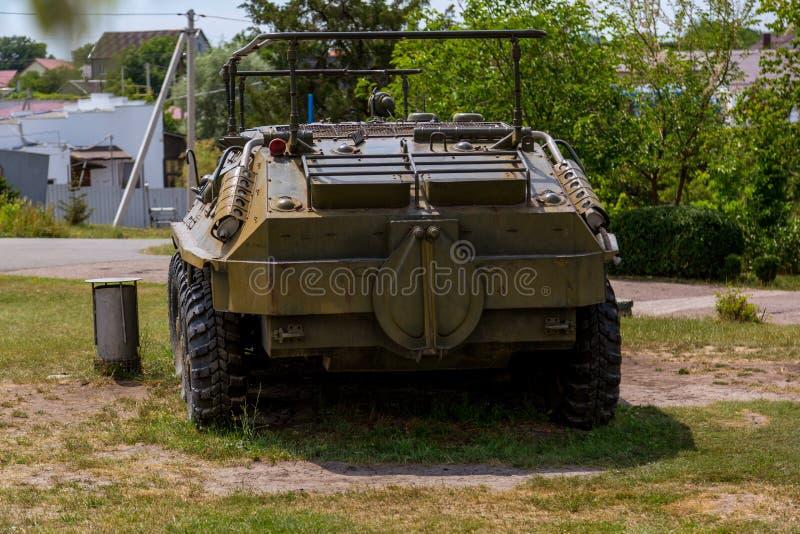 Vecchio veicolo d'annata dell'artiglieria mobile fotografie stock