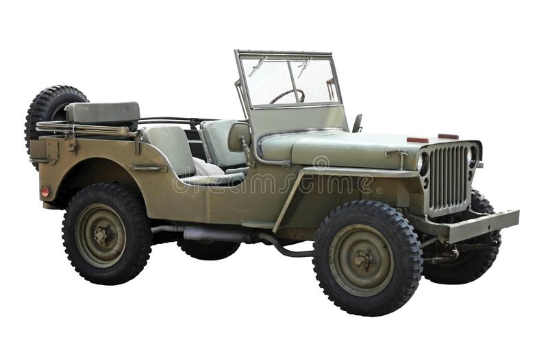 Vecchio veicolo militare americano immagini stock libere da diritti