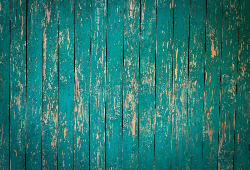 Vecchio verde di legno della parete dipinto fotografia stock