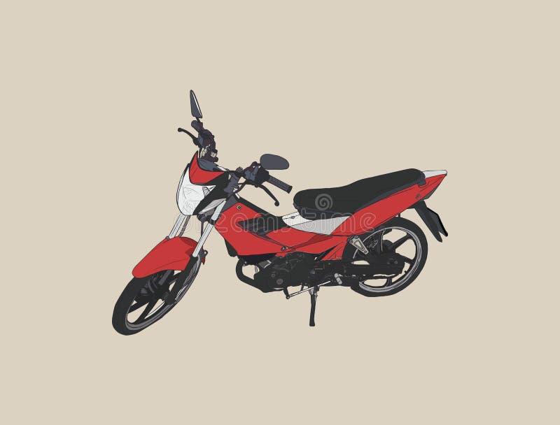 Vecchio vettore di schizzo della motocicletta illustrazione vettoriale
