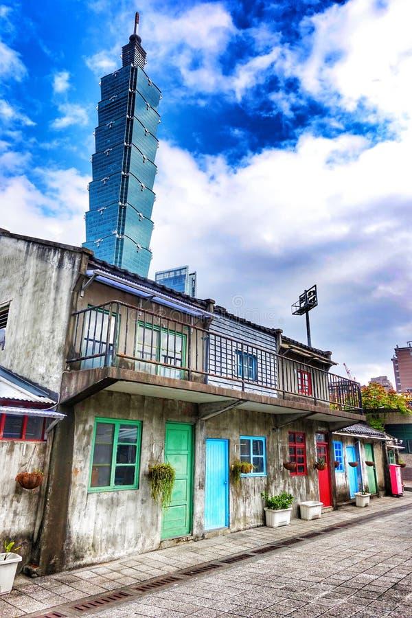 Vecchio villaggio militare Taipei Taiwan fotografia stock libera da diritti