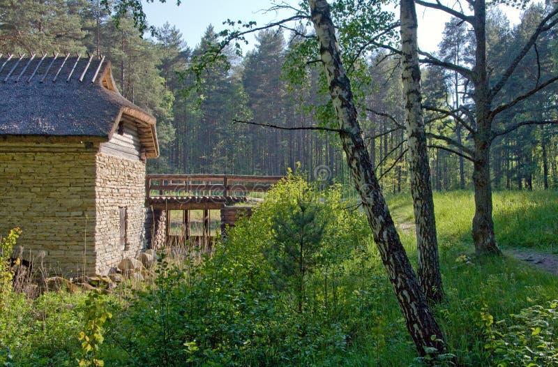 Vecchio Watermill In Campagna Immagine Stock