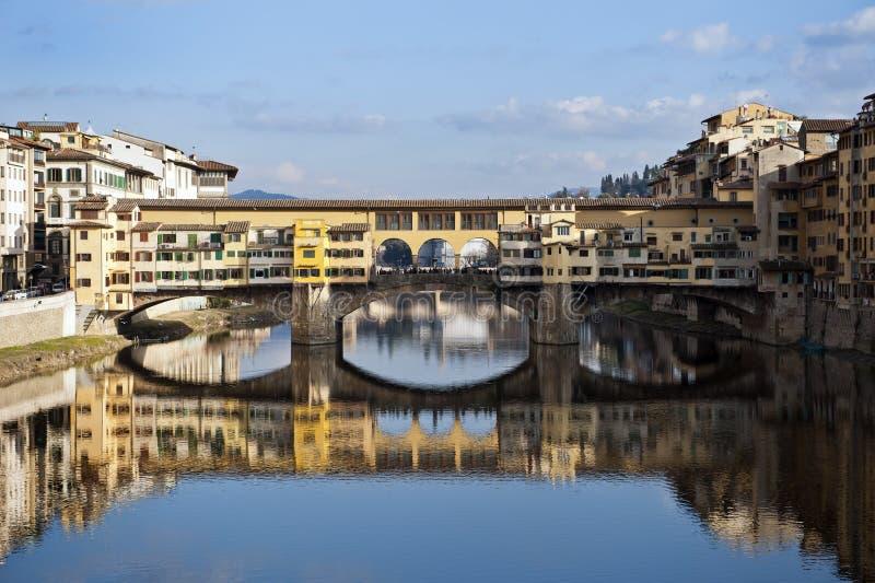 Vechiobrug van Florence Ponte royalty-vrije stock afbeeldingen
