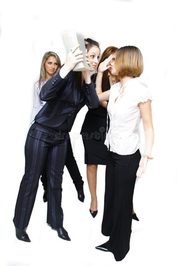 Vechtende bedrijfsvrouwen royalty-vrije stock foto's