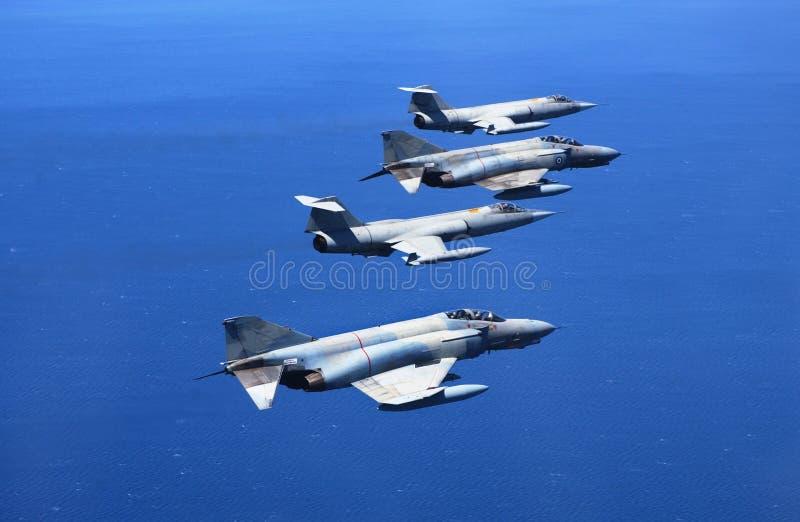 Vechtende Vliegtuigen Stock Fotografie