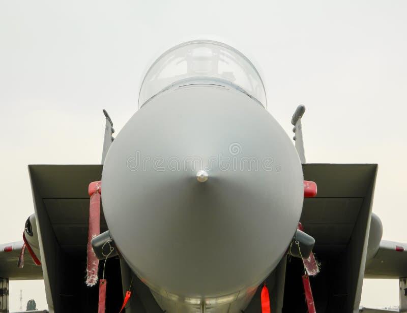 Vechtersvliegtuig met luchtopnamen stock foto's