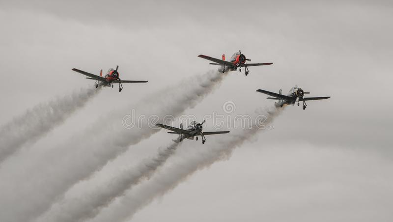 Vechtersvliegtuigen stock afbeelding