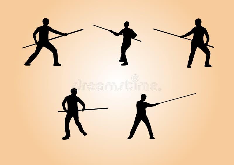 Vechtsporten - reeks 3 stock fotografie
