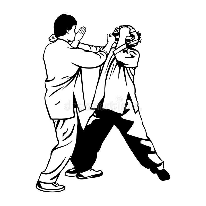 Vechtsportenillustratie stock illustratie