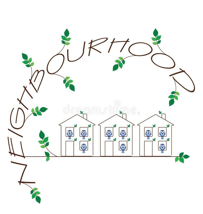 Vecindad stock de ilustración