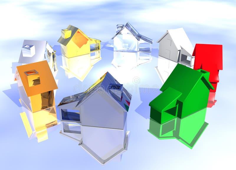 Vecindad abstracta de diversos estilos libre illustration