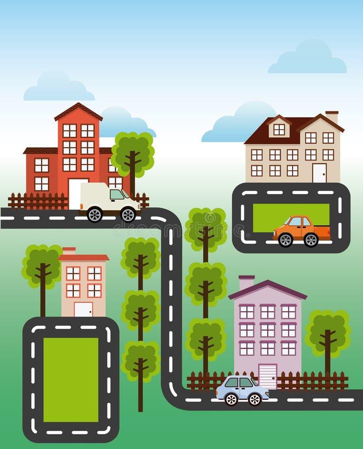 Vecindad agradable libre illustration