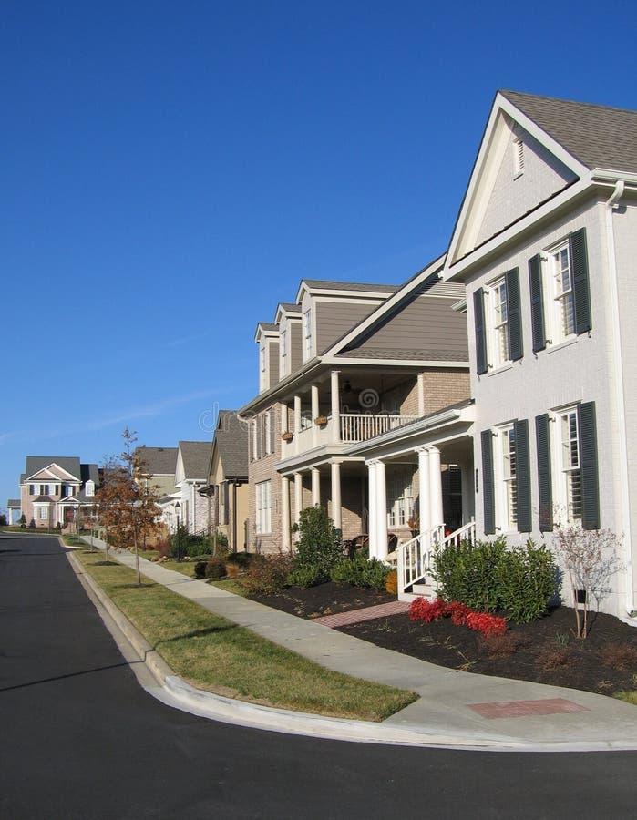Vecindad americana del suburbio foto de archivo libre de regalías
